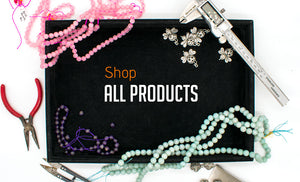 shop all products include semi-precious stone beads, wood beads, findings, freshwater pearl and glass beads