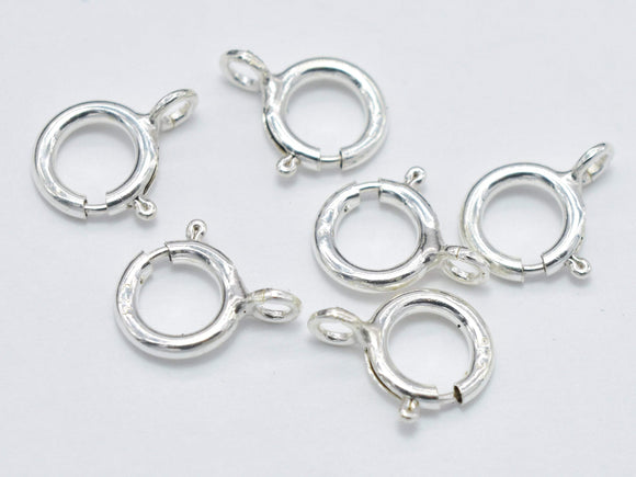 10pcs 925 Sterling Silver Spring Ring Clasp-BeadBasic