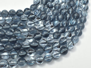 Mystic Aura Quartz-Gunmetal, 6mm (6.3mm)-BeadBasic