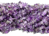 Amethyst Chips, Approx 4 - 9mm, 33 Inch