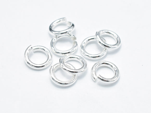 20pcs 925 Sterling Silver Open Jump Ring, 5mm, 1mm (18guage)-BeadBasic