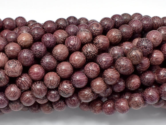 Purple Sandalwood Beads, 6mm Round Beads-BeadBasic