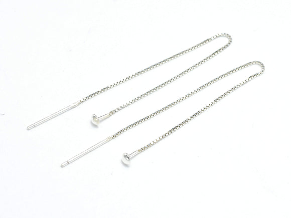 4pcs 925 Sterling Silver Earwire-BeadBasic