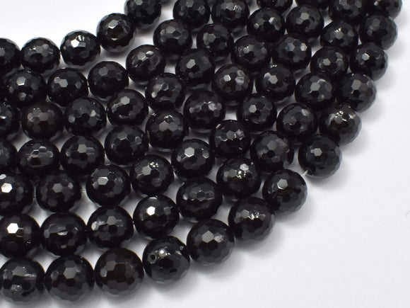 Agate Beads- Black, 10mm Faceted Round