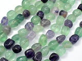 Fluorite Beads, Approx 8x10mm Nugget Beads, 15.5 Inch