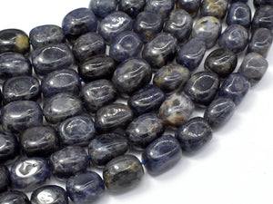 Iolite Beads, Approx 10x14mm Nugget Beads, 15.5 Inch-BeadBasic