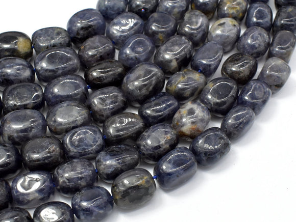 Iolite Beads, Approx 10x14mm Nugget Beads, 15.5 Inch