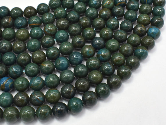 Green Wood Jasper Beads, 8mm (8.3mm)