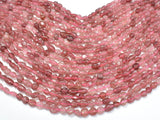 Strawberry Quartz, Lepidocrocite, 6x8mm Nugget Beads, 16 Inch