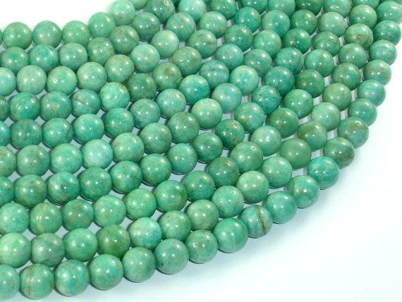African Amazonite Beads, 7.5mm-BeadBasic