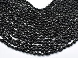 Black Tourmaline, 6x8mm Nugget Beads-BeadBasic