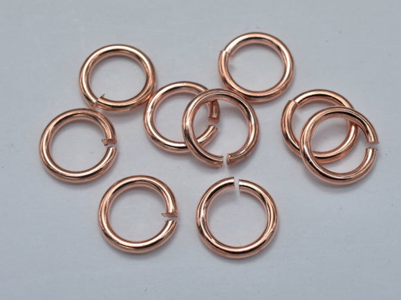 500pcs 4mm Open Jump Ring, 0.6mm (22gauge), Rose Gold Plated-BeadBasic