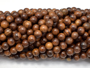 Black Rosewood Beads, 6mm Round Beads, 26 Inch