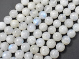 White Rainbow Moonstone Beads, 8mm Round Beads