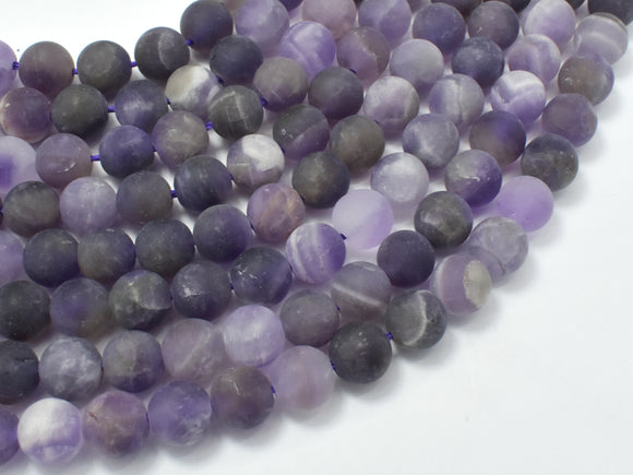 Matte Amethyst Beads, 8mm (7.8mm) Round Beads-BeadBasic
