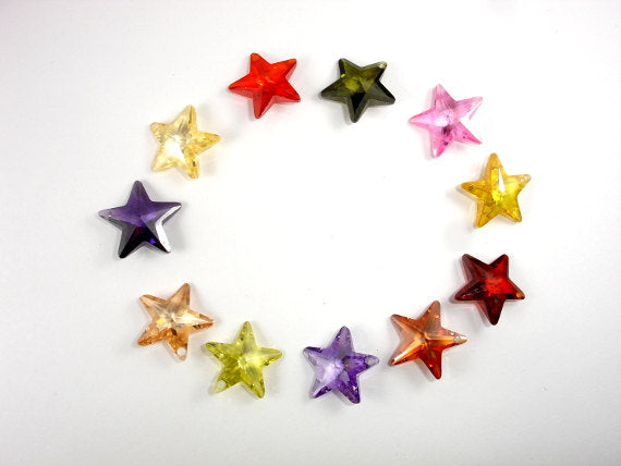 CZ beads,16x16mm Faceted Star-BeadBasic