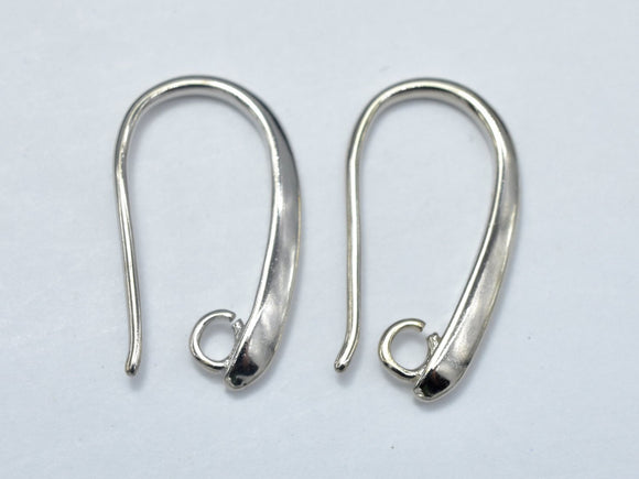 10pcs Earing Hooks, Fishhook, Silver Plated, 10x20mm, Hole 2mm