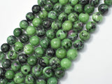 Ruby Zoisite Beads, Round, 10mm-BeadBasic