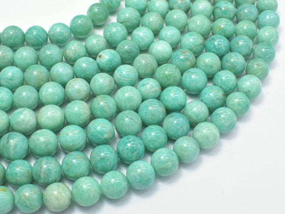 African Amazonite Beads, 9mm (9.5mm) Round-BeadBasic