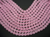 Rose Quartz, 10mm Faceted Round Beads-BeadBasic