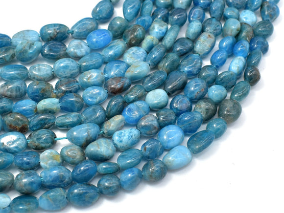 Apatite, 6x8mm Nugget Beads, 16 Inch