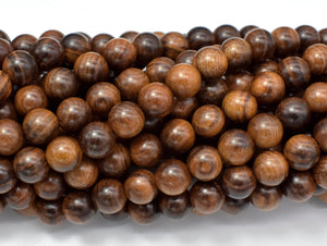 Black Rosewood Beads, 8mm Round Beads, 33 Inch-BeadBasic