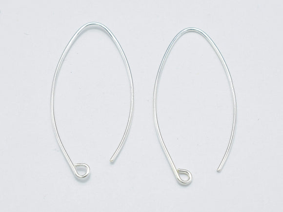 4pcs 925 Sterling Silver Arc Earwire, 20gauge Earring Hook-BeadBasic