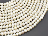 Fresh Water Pearl Beads-White, Approx 5-6mm Potato Beads-BeadBasic