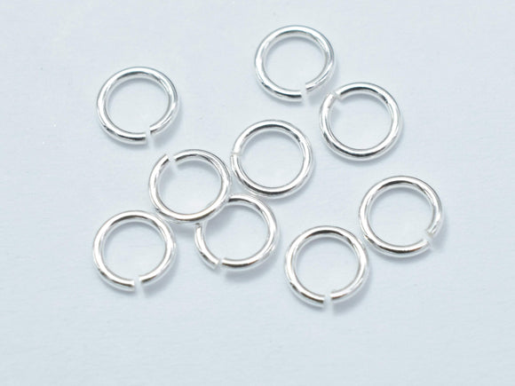 50pcs 925 Sterling Silver Open Jump Ring, 4mm-BeadBasic