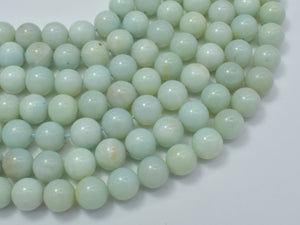 Amazonite Beads, Round, 10mm, 15.5 Inch-BeadBasic