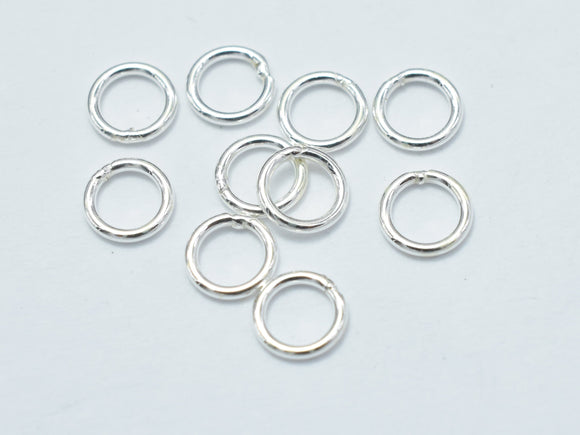 40pcs 925 Sterling Silver Close Jump Ring, 4mm-BeadBasic