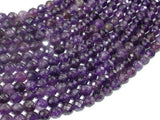 Amethyst, 6mm Faceted Round,15.5 Inch, Full strand