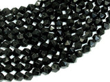 Black Onyx Beads, 8mm (7.5mm) Star Cut Faceted Round