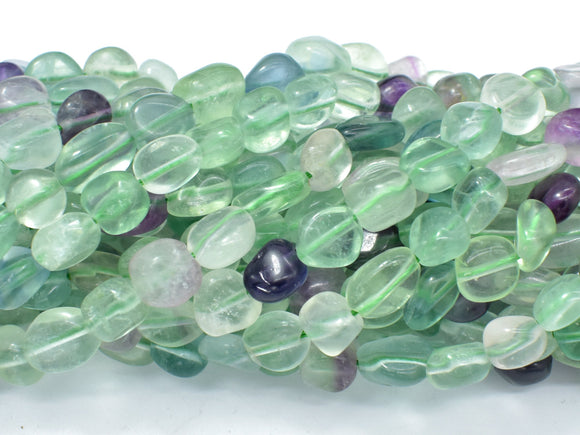 Fluorite Beads, Approx 6x8mm Nugget Beads