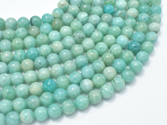 African Amazonite Beads, 8mm Round-BeadBasic