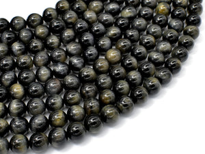 Blue Tiger Eye, 8mm Round Beads-BeadBasic