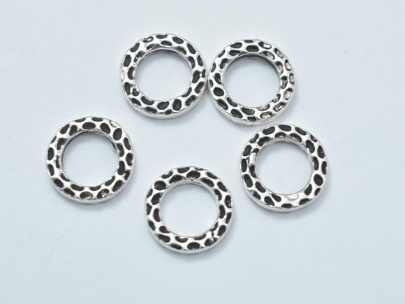 4pcs Antique Silver 925 Sterling Silver Ring, 8.8mm-BeadBasic