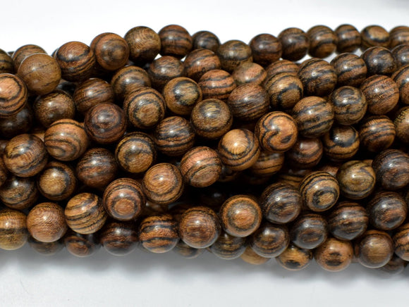 Tiger Skin Sandalwood Beads, 8mm Round Beads-BeadBasic