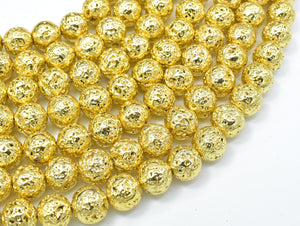 Lava-Gold Plated, 10mm (10.5mm) Round