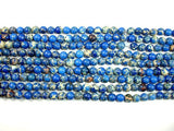 Blue Impression Jasper, 6mm Round Beads