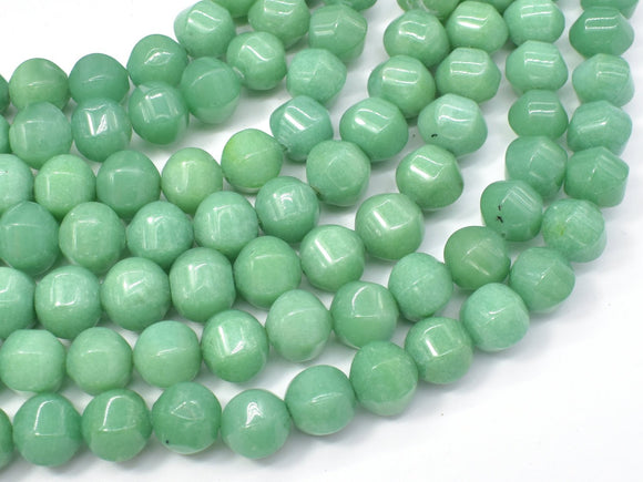 Jade Beads-Green, 10x10mm Pumpkin, Lantern Shape Beads