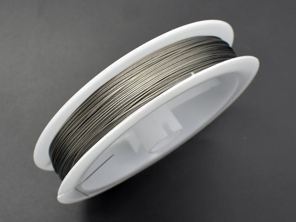 Tiger Tail Beading Wire, Silver Tone | Beadbasic