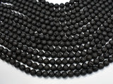 Black Lava Beads, Round, 8mm-BeadBasic