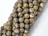 Leopard Skin Jasper Beads, Round, 8mm, 16 Inch, Full strand, Approx 48 beads, Hole 1 mm, A quality (306054012)