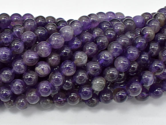 Amethyst Beads, 6mm(6.6mm) Round-BeadBasic