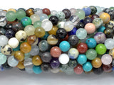 Mixed Stone, 6mm Round Beads