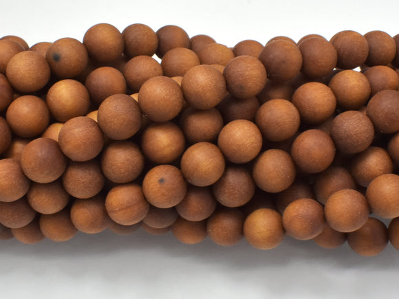 Matte Sandalwood Beads, 8mm Round, 35 Inch