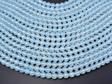 White Opalite Beads, Faceted Round, 8mm(7.8mm), 14.5 Inch