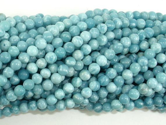 Larimar Quartz, 4mm Round Beads, 15.5 Inch