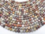 Matte Mexican Crazy Lace Agate Beads, 6mm Round Beads-BeadBasic